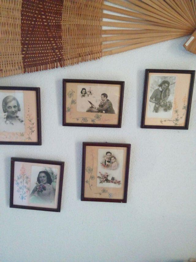 cuadros con postales antiguas