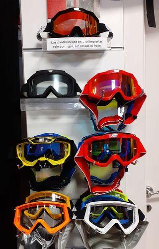 Gafas Moto Cross Enduro Desde 25€ OUTLET