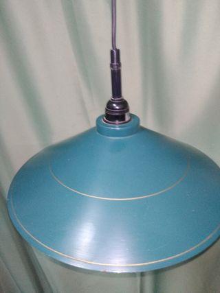 lámpara de metal tipo billar