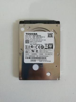 """Disco duro 500Gb Toshiba 2,5"""""""