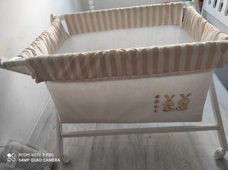 Mini cuna marca interbaby incluye colchón funda