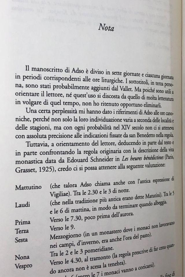 Il nome della rosa di Umberto Eco ITALIAN edition