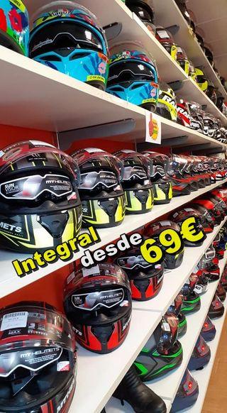 Integrales baratos Cascos Moto Outlet desde 69€