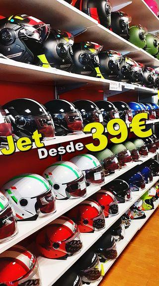 Tenemos Muchos Cascos Jet Moto OUTLET CARBALLIÑO