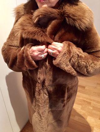 Abrigo de mujer piel mouton/ante reversible