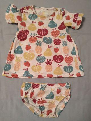 Vestido y braguita de Boboli, bebé 9 meses