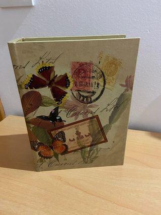 Caja libro madera decoración