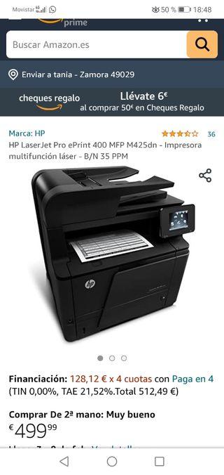 impresora escaner Hp Láser Jet Pro 400MFP