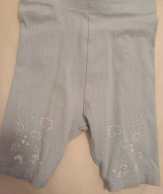 Leggings cortos bebé 9 meses / 74 cm
