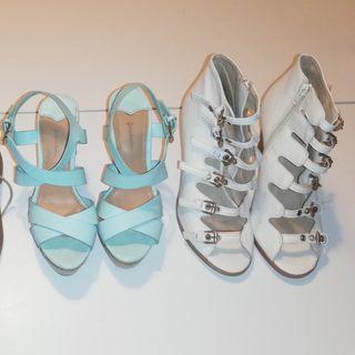 zapatos, verano, tacón