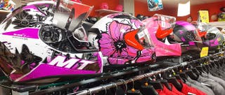 Cascos integrales para chicas Mujeres Moto OUTLET