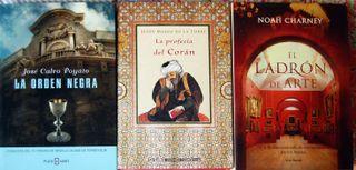 Lote de tres novelas históricas y de intriga