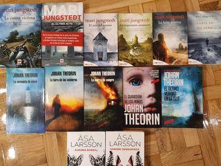 Lote 13 libros novela negra sueca