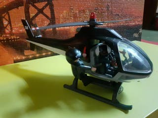 helicoptero playmobil police