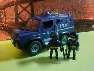 vehículo police playmobil