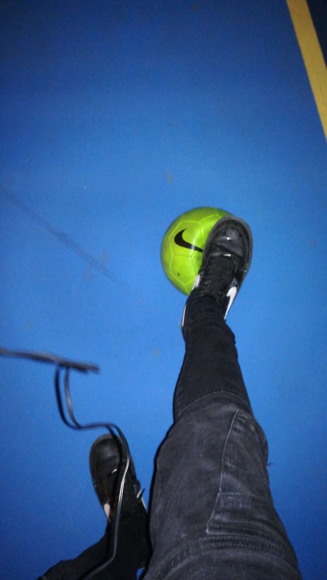 Balon Nike verde fosforito