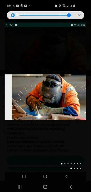 oficial de soldador y montador económico