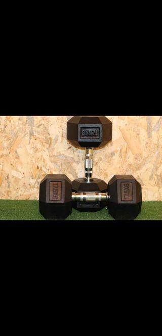 mancuernas 17.5 kg fitness pesas