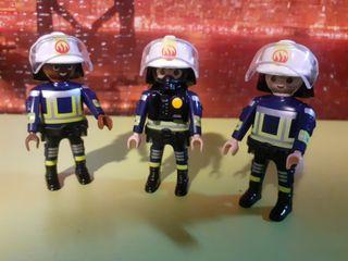 3 bomberos playmobil