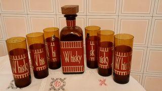 Juego completo whisky vintage años 60 / 70