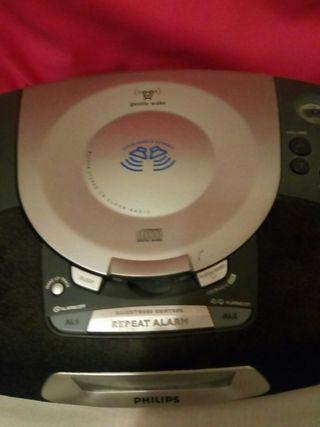 Despertador compacto CD