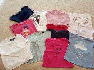 lote de camisetas, polar y chaqueta por 15€