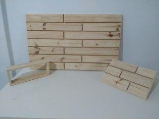Cabecero madera natural