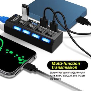 Hub Concentrador USB. Hub de 4 puertos Regleta
