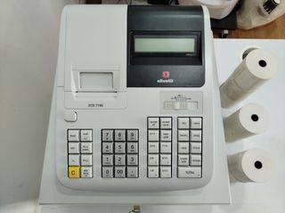 Caja Registradora Olivetti con rollos de factura