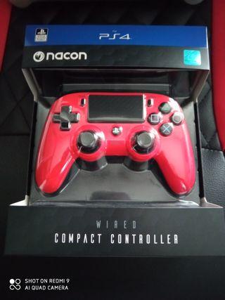 Mando Ps4 Nacon rojo 3 m nuevo