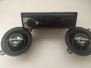 Radio Bluetooth + Altavoces JVC CS-J420X 210W.