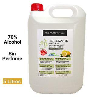 Hidrogel higienizante de manos sin perfume 5 litro
