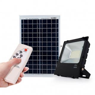Proyector LED Solar 200W Sensor + Control Remoto P