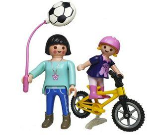 Playmobil Madre y niña con bici