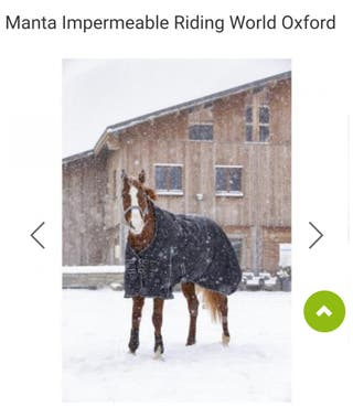 manta impermeable para caballo