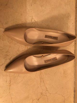 Zapato Zara nude 39