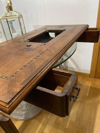 Mueble 2 cajones antigua máquina coser