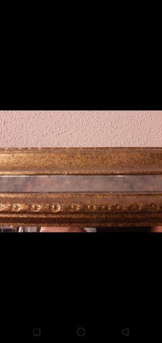 Espejo con marco a mano vintage-moderno
