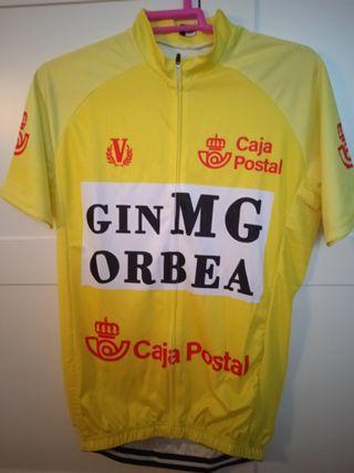 Maillot ciclismo Vuelta-1985 Perico Delgado Orbea
