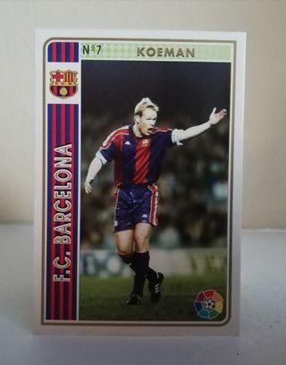 KOEMAN #7 F. C. BARCELONA FICHAS DE LA LIGA 1994
