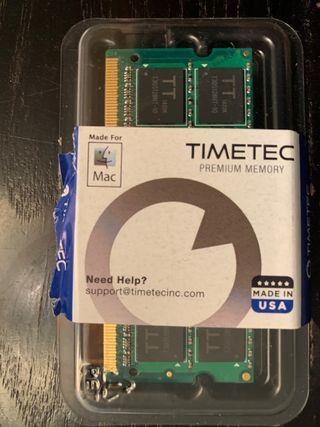Tarjeta Ram 4 GB Mac