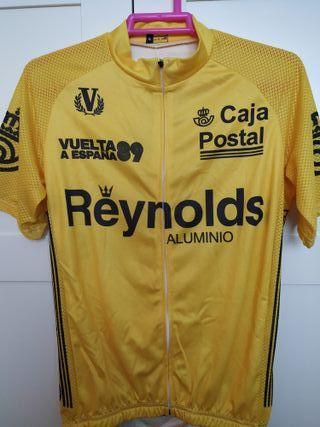 Maillot amarillo ciclismo Vuelta 89 Perico Delgado