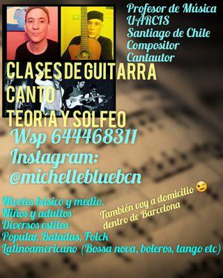 Clases De Guitarra, Canto y/o Teoría Musical