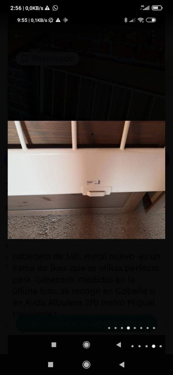 cabecero hierro cama 135/140 nueva
