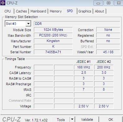 RAM 1GB y 512MB DDR
