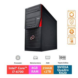 Fujitsu Celsius W550 - Core i7 - 256GB+2TB - K620