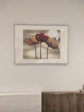 quadre con su Marco plateado
