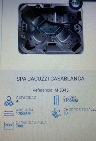 SPA JACUZZI CASABLANCA bañera hidromasaje