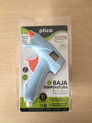 Pistola encoladora silicona baja temperatura