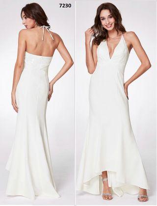 Vestido Novia asimetrico talla 38 con etiquetas